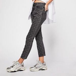 NWT Levi's Premium 501 Crystal Crop Jeans